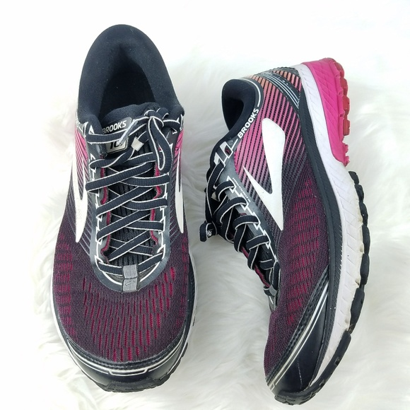 40ffb34c01016 Brooks Shoes - BROOKS Ghost 10 Running Sneakers Black Pink